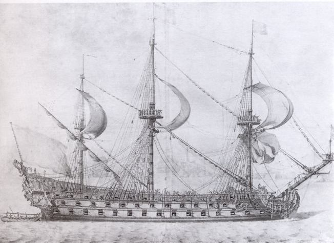 Dessin P. Pujet supposé représenter le royal louis (1668)