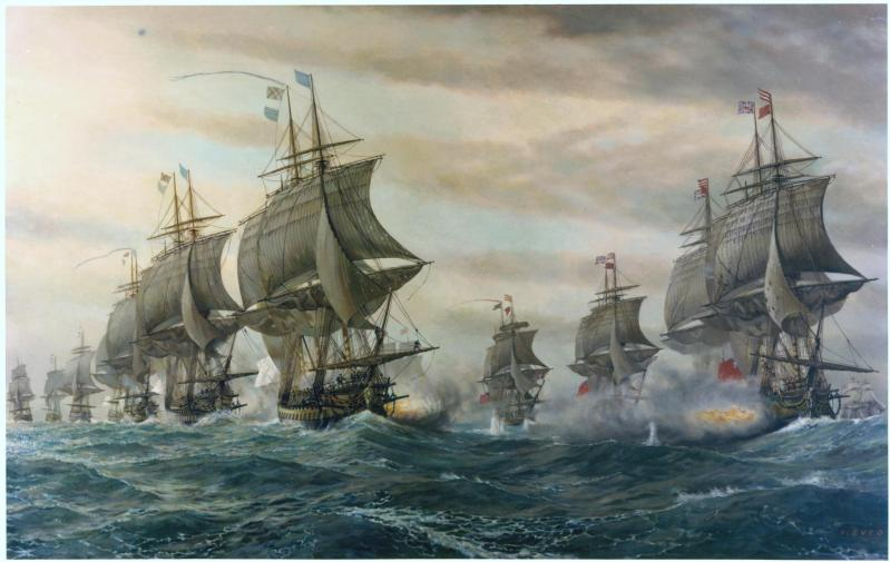 Bataille de la baie de Chesapeake, le 5 septembre 1781. Par V. Zveg (1962).
