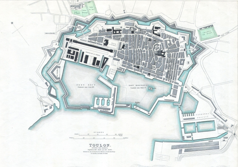 Plan de Toulon, 1840