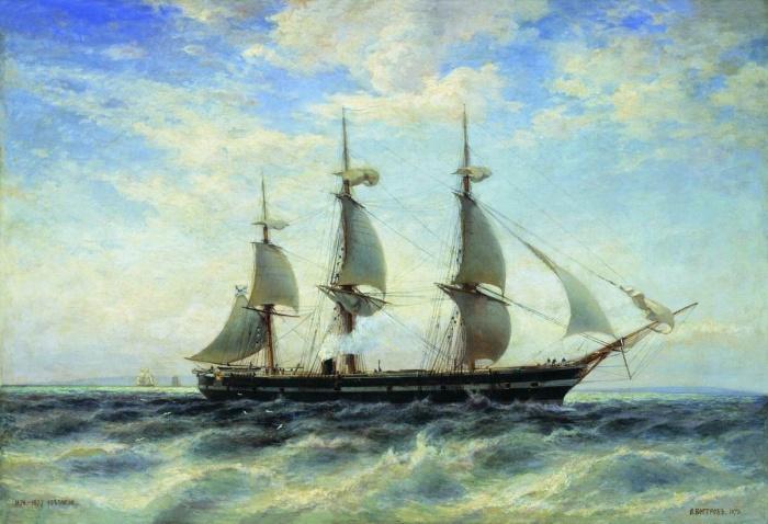 La frégate Svetlana. Par Alexander Beggrov. Musée central de la Marine de Guerre de Saint-Pétersbourg.
