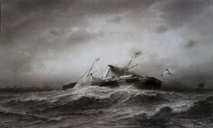 Le Standart dans une tempête. Par Alexey Bogoliubov.