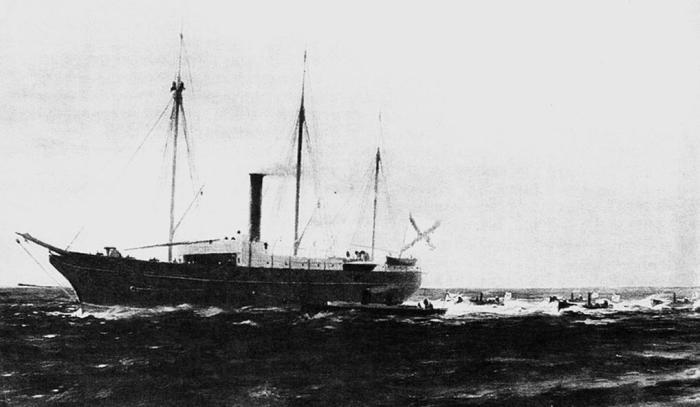 Le steamer Grand-Duc Constantin, construit à La Seyne-sur-Mer en 1857.