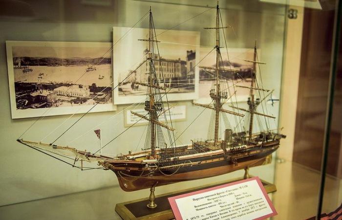 Modèle de la Svetlana. Musée de la Flotte du Pacifique à Vladivostok.