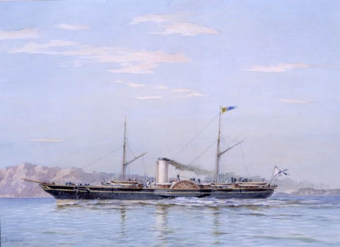 Le yacht Standart (1858-1879). Par Alexander Beggrov. Musée central de la Marine de Guerre de Saint-Pétersbourg.