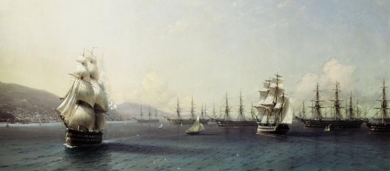 Marine russe à Feodosiya (1839). Par Ivan Aivazovskiy.