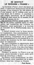 Extrait du journal Le Gaulois du 27 août 1922.
