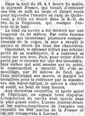 Extrait du journal L'Echo de Paris du 27 août 1922.