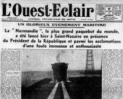 Une du journal L'Ouest-Eclair du 30 octobre 1932.