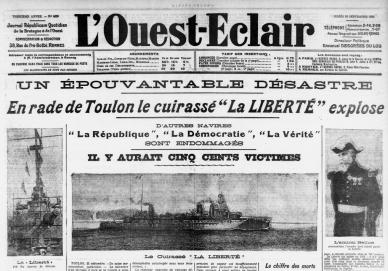 Une du journal L'Ouest-Eclair le 26 septembre 1911